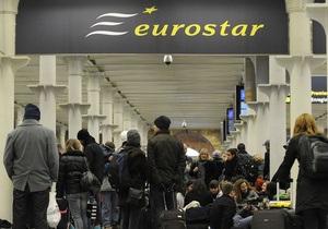 Eurostar приостанавливает движение из-за непогоды