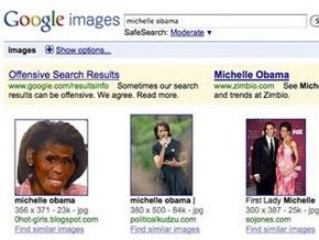 Оскорбительное изображение Мишель Обамы удалили из поискового индекса Google Image Search