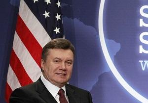 Янукович поздравил США с Днем независимости