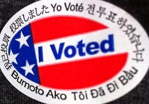 Избиратели из Айовы недовольны, что им не дали наклейку Я проголосовал