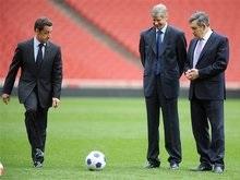 Саркози и Браун побывали в гостях у лондонского Арсенала