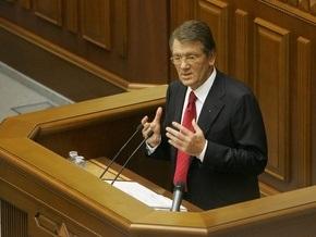 Ющенко хотел бы прекратить полномочия Рады, но не может