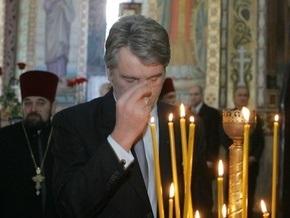 Ющенко посетил в Сорочинцах храм, где крестили Гоголя