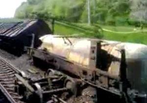 Во Львовской области сошли с рельсов и загорелись цистерны с топливом
