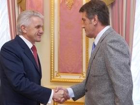 Ющенко и Литвин обсудили план работы Рады