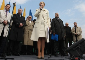 Тимошенко пообещала никогда не критиковать лидеров оппозиции