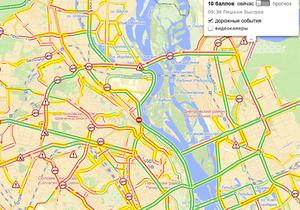 Пробки Киева - дороги киева - Вторник Киев встретил сильнейшими пробками