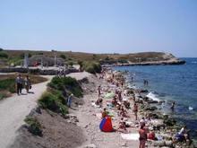 Выброшенная на берег мина вызвала панику среди пляжников Севастополя