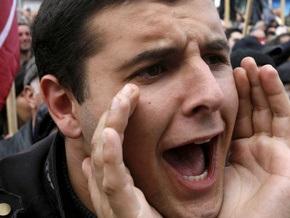 Грузинской оппозиции не удалось провести пикет в Кутаиси