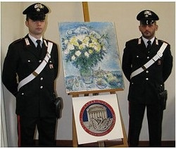 Похищенную 10 лет назад картину Марка Шагала обнаружили в Италии