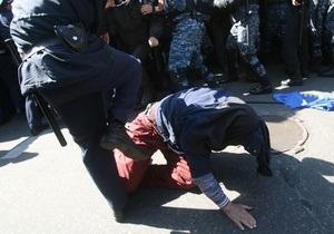 МВД: Участники акций под стенами Рады травмировали трех милиционеров