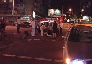 В Киеве под колеса автомобиля попал велосипедист