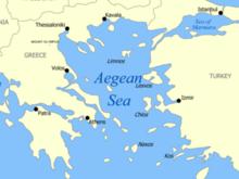 В Эгейском море сел на мель паром с пассажирами