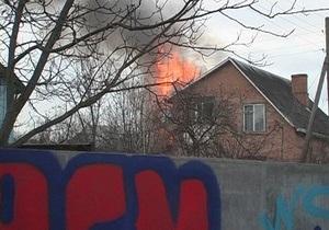 В Киеве на Осокорках горел частный дом