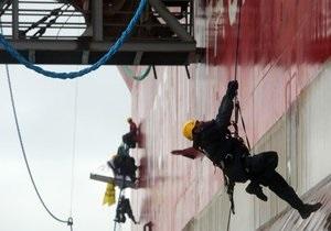 Активисты Greenpeace провели акцию на нефтяной платформе Приразломная в Арктике