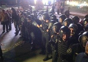 Не было никаких нарушений. Милиция изложила свою версию событий на Майдане