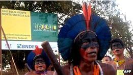 Бразильские индейцы заняли место строительства плотины
