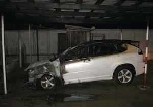 В Белгород-Днестровском сожгли Lexus местного депутата-оппозиционера