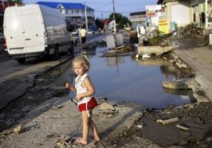 В Крымск доставили около двух тысяч тонн гуманитарной помощи