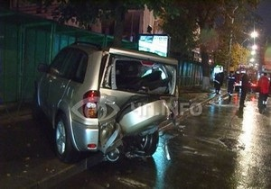 В центре Киева столкнулись шесть автомобилей: есть пострадавшие
