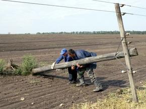 В Херсонской области неизвестные украли три электроопоры