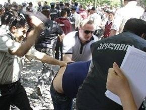 У здания правительства Грузии избили активистов оппозиции