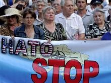 В Севастополе устроили пикет против крейсера НАТО
