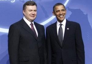 Янукович встретился и пообщался с Обамой