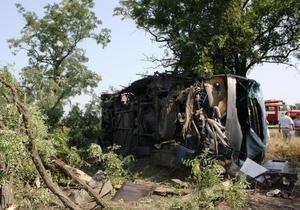 новости Запорожской области - ДТП - автобус - В Запорожской области перевернулся автобус с 41 пассажиром, у которого отказали тормоза