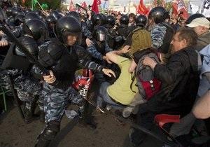 Среди задержанных на митинге в Москве украинцев нет