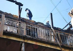 В Одессе в результате пожара выгорели десять квартир и крыша