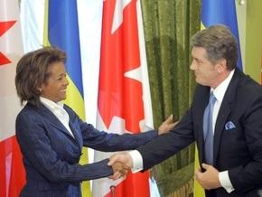 Ющенко надеется на либерализацию визового режима с Канадой