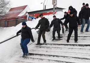 Фотогалерея: Зазимление. Киев в снежной блокаде