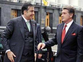 Саакашвили вручил Ющенко орден