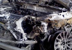 В Киеве сегодня ночью горели автомобили