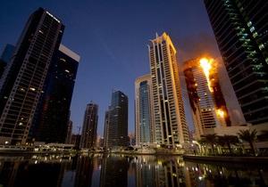 В Дубаи горел небоскреб: пожарные пять часов боролись с огнем