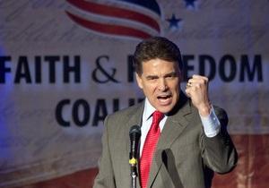 Губернатор Техаса отказывается от борьбы за пост президента США