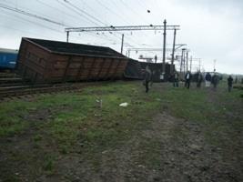 В Донецкой области пять грузовых вагонов сошли с рельсов