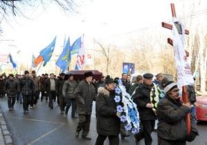 Донецкая епархия УПЦ МП назвала глумлением траурное шествие чернобыльцев