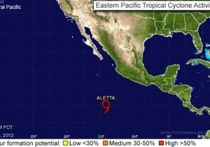 У берегов Мексики сформировался первый в этом году тропический шторм