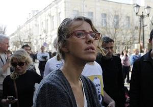 Московская полиция отпустила задержанную в ходе  бессрочных гуляний  Ксению Собчак