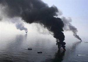В Мексиканском заливе приостановлены работы по ликвидации утечки нефти