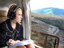 Тимошенко ознакомилась с восстановительными работами на западе Украины