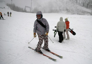 Фотогалерея: Киев встал на лыжню