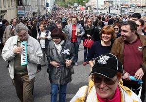 Московский  Марш миллионов : либералы и левые пообещали шагать в ногу
