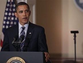 Выступление Обамы прервал разбившийся телесуфлер