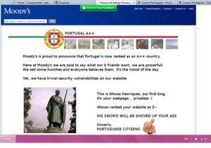 Португальские хакеры отомстили агентству Moody s за понижение рейтинга страны, взломав его сайт