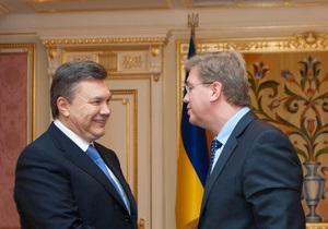 Фюле встретился с Януковичем перед тем, как посетить Тимошенко