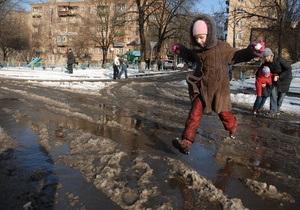 За зиму из Киева вывезли 300 тысяч тонн снега