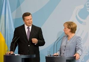 Янукович рассказал в Германии о демократизации Украины